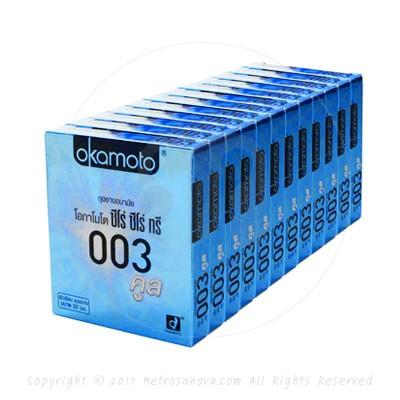 ถุงยางอนามัย Okamoto 003 Cool (แบบบางมากและเย็น)