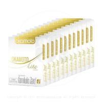ถุงยางอนามัย Okamoto Lite (บางและยืดหยุ่นสูง) 1 โหล 12 กล่อง