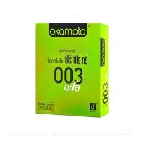 ขายถุงยางอนามัย Okamoto 003 Aloe (แบบบาง, เจลสูตรน้ำว่านหางจระเข้)