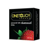 ถุงยางอนามัย One Touch Strawberry (ผิวเรียบกลิ่นสตอเบอรี่)