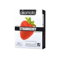 ขายถุงยางอนามัย Okamoto Strawberry (กลิ่นสตอเบอรี่)